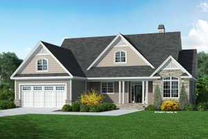 Craftsman Exterior - Front Elevation Plan #929-1127