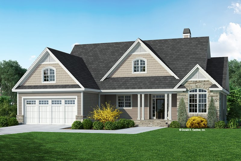 Architectural House Design - Craftsman Exterior - Front Elevation Plan #929-1127