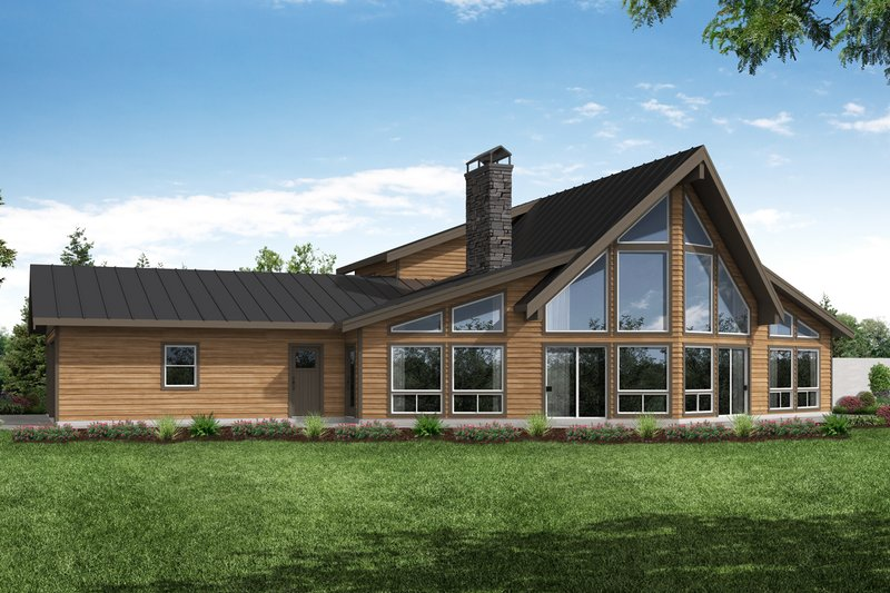 Cabin Exterior - Front Elevation Plan #124-1183