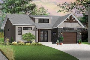 Craftsman Exterior - Front Elevation Plan #23-2305