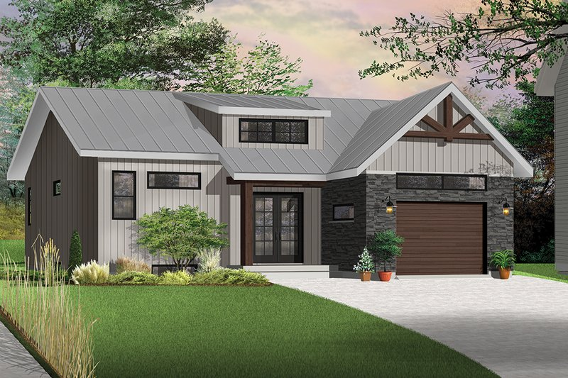 House Plan Design - Craftsman Exterior - Front Elevation Plan #23-2305