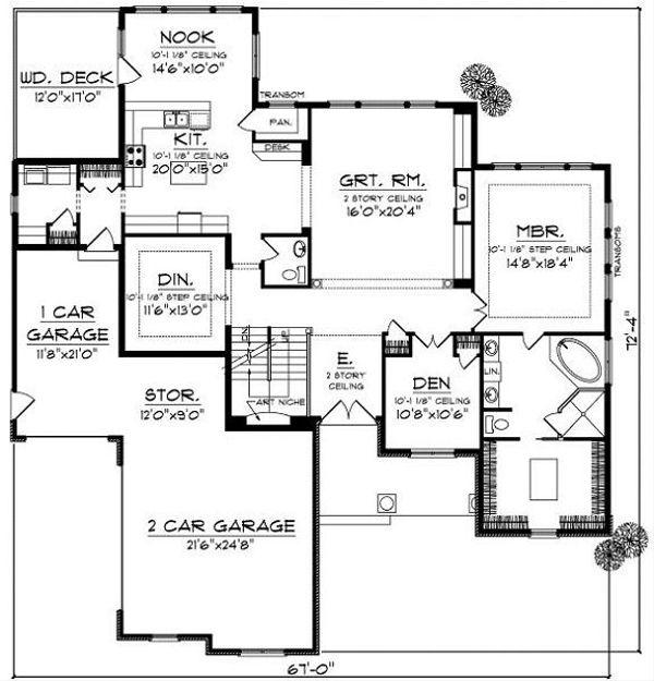 Cottage Floor Plan - Main Floor Plan Plan #70-883