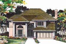 House Blueprint - Traditional Exterior - Front Elevation Plan #72-459