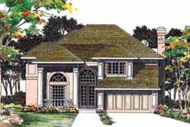 Traditional Exterior - Front Elevation Plan #72-459 - Houseplans.com