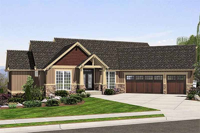 Craftsman Exterior - Front Elevation Plan #48-462
