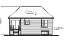 Colonial Exterior - Rear Elevation Plan #23-309