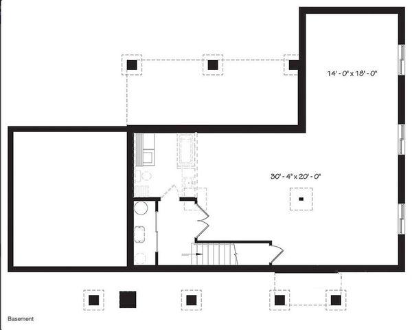 Ranch Floor Plan - Lower Floor Plan Plan #23-2637