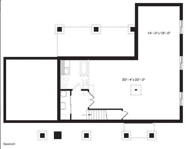 Ranch Floor Plan - Lower Floor Plan Plan #23-2637