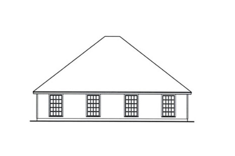 Country Exterior - Rear Elevation Plan #42-377 - Houseplans.com