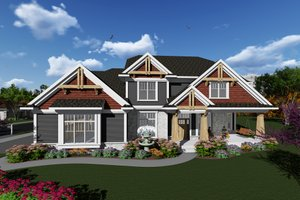 Craftsman Exterior - Front Elevation Plan #70-1279
