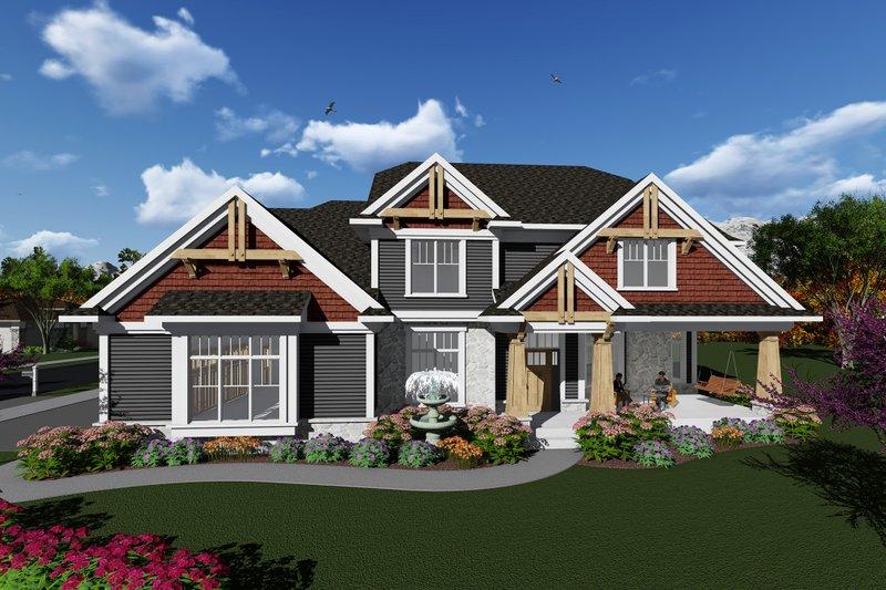 House Plan Design - Craftsman Exterior - Front Elevation Plan #70-1279