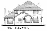 European Style House Plan - 3 Beds 2.5 Baths 1846 Sq/Ft Plan #18-248 Exterior - Rear Elevation