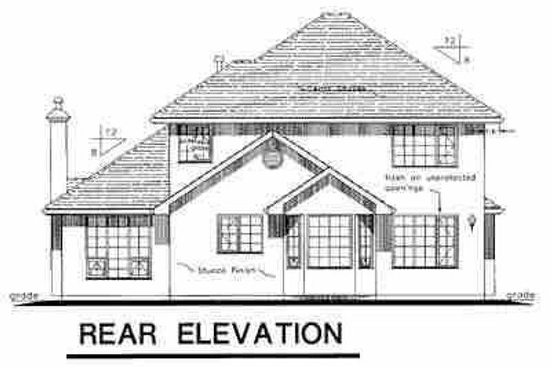 European Exterior - Rear Elevation Plan #18-248 - Houseplans.com