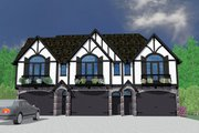 Tudor Style House Plan - 6 Beds 7.5 Baths 5642 Sq/Ft Plan #509-33 Exterior - Other Elevation