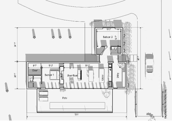 Modern Floor Plan - Main Floor Plan Plan #481-2