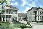 Southern Style House Plan - 3 Beds 2.5 Baths 1687 Sq/Ft Plan #17-655 Exterior - Front Elevation