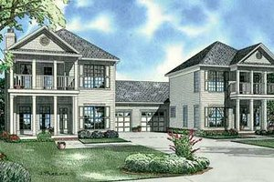 Southern Exterior - Front Elevation Plan #17-655