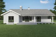 Craftsman Style House Plan - 3 Beds 2 Baths 2334 Sq/Ft Plan #1070-114 Exterior - Rear Elevation