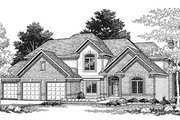 Traditional Style House Plan - 4 Beds 2.5 Baths 2838 Sq/Ft Plan #70-450 Exterior - Front Elevation