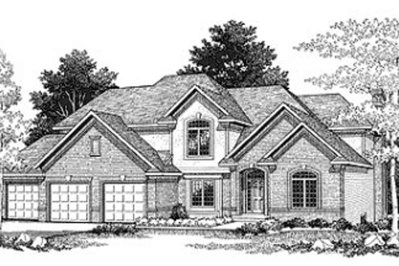Traditional Exterior - Front Elevation Plan #70-450 - Houseplans.com