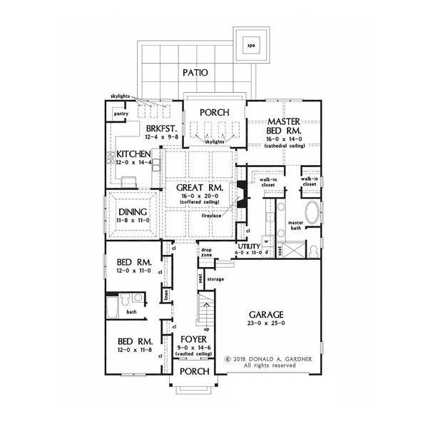 Country Floor Plan - Main Floor Plan #929-1081