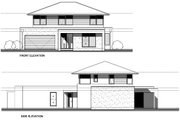 Modern Style House Plan - 4 Beds 2.5 Baths 2885 Sq/Ft Plan #496-25 Exterior - Other Elevation