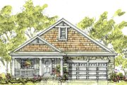 Cottage Style House Plan - 2 Beds 2 Baths 1344 Sq/Ft Plan #20-1207 Exterior - Front Elevation