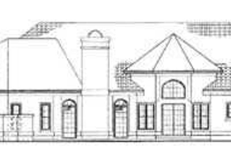 Traditional Exterior - Rear Elevation Plan #72-162 - Houseplans.com