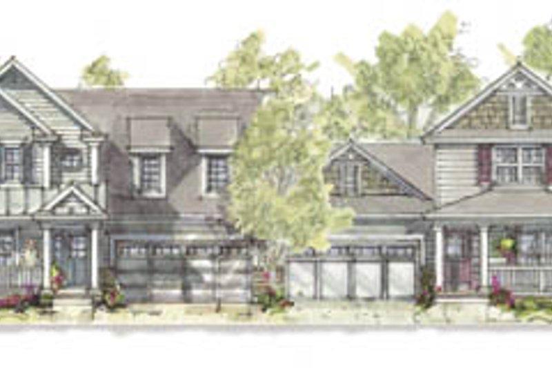 Cottage Exterior - Front Elevation Plan #20-1259