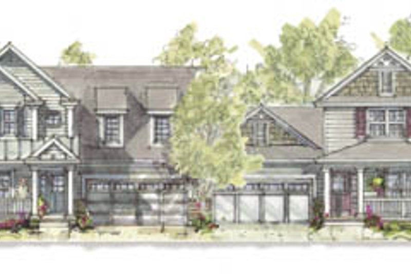 Cottage Exterior - Front Elevation Plan #20-1259