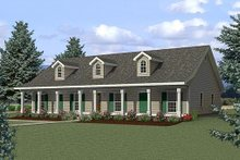 Home Plan - Country Exterior - Front Elevation Plan #44-125
