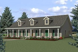 Dream House Plan - Country Exterior - Front Elevation Plan #44-125