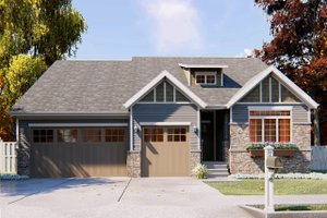 Craftsman Exterior - Front Elevation Plan #455-221