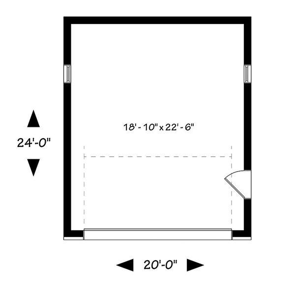 Contemporary Floor Plan - Main Floor Plan Plan #23-2635