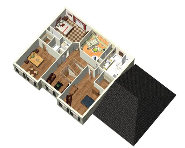 European Floor Plan - Upper Floor Plan #25-4665