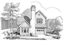 European Exterior - Front Elevation Plan #410-176
