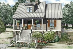 Country Exterior - Front Elevation Plan #17-2309