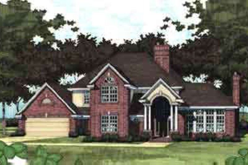 Traditional Exterior - Front Elevation Plan #120-106 - Houseplans.com