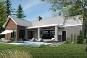 Ranch Style House Plan - 2 Beds 1 Baths 1212 Sq/Ft Plan #23-2637 Exterior - Rear Elevation