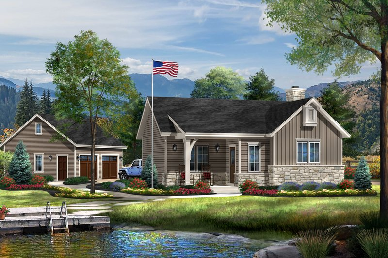 Home Plan - Cottage Exterior - Front Elevation Plan #22-566