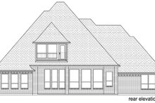 Home Plan - Traditional Exterior - Rear Elevation Plan #84-603