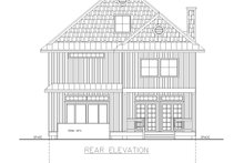 Home Plan - Traditional Exterior - Rear Elevation Plan #117-912