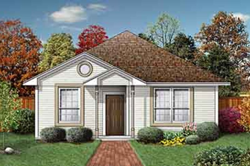 Traditional Style House Plan - 2 Beds 2 Baths 1044 Sq/Ft Plan #84-157 Exterior - Front Elevation