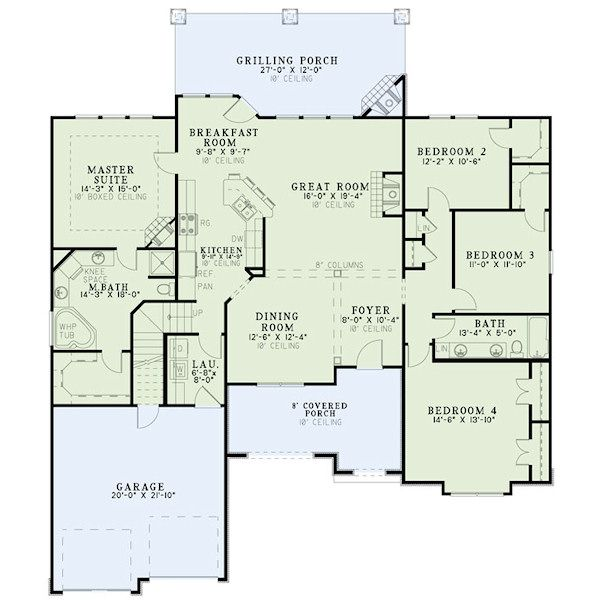 European Floor Plan - Main Floor Plan Plan #17-2417