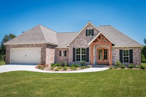 Home Plan - European Exterior - Front Elevation Plan #430-89