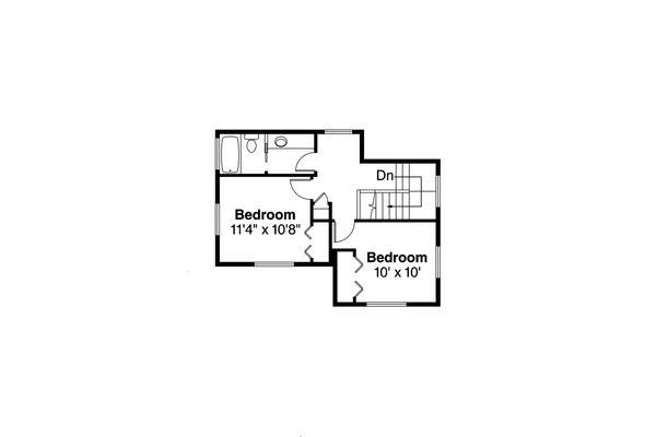 Prairie Floor Plan - Upper Floor Plan Plan #124-1035