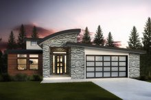 Architectural House Design - Modern Exterior - Front Elevation Plan #1073-8