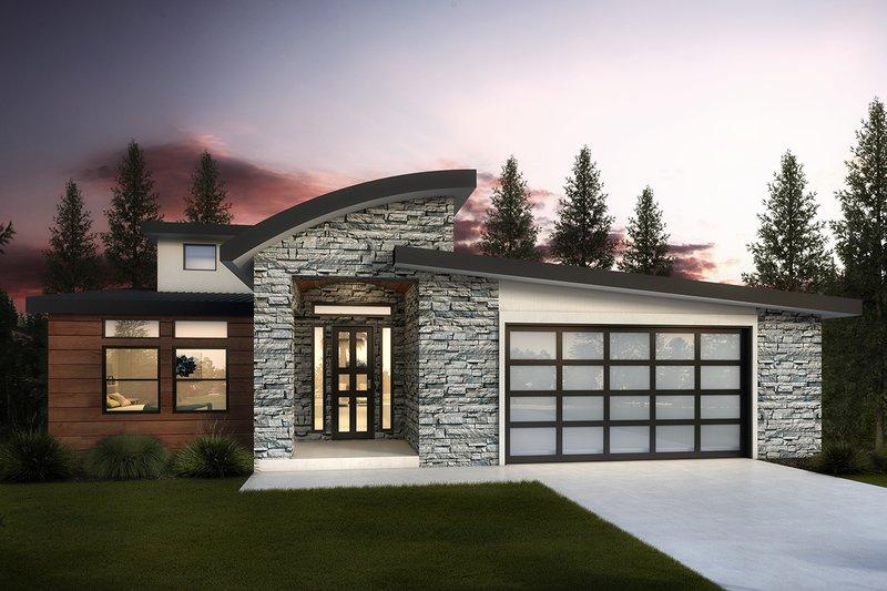 Dream House Plan - Modern Exterior - Front Elevation Plan #1073-8