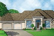 European Style House Plan - 4 Beds 4 Baths 3261 Sq/Ft Plan #67-110 Exterior - Front Elevation