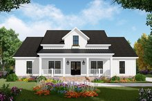 Dream House Plan - Country Exterior - Front Elevation Plan #21-444